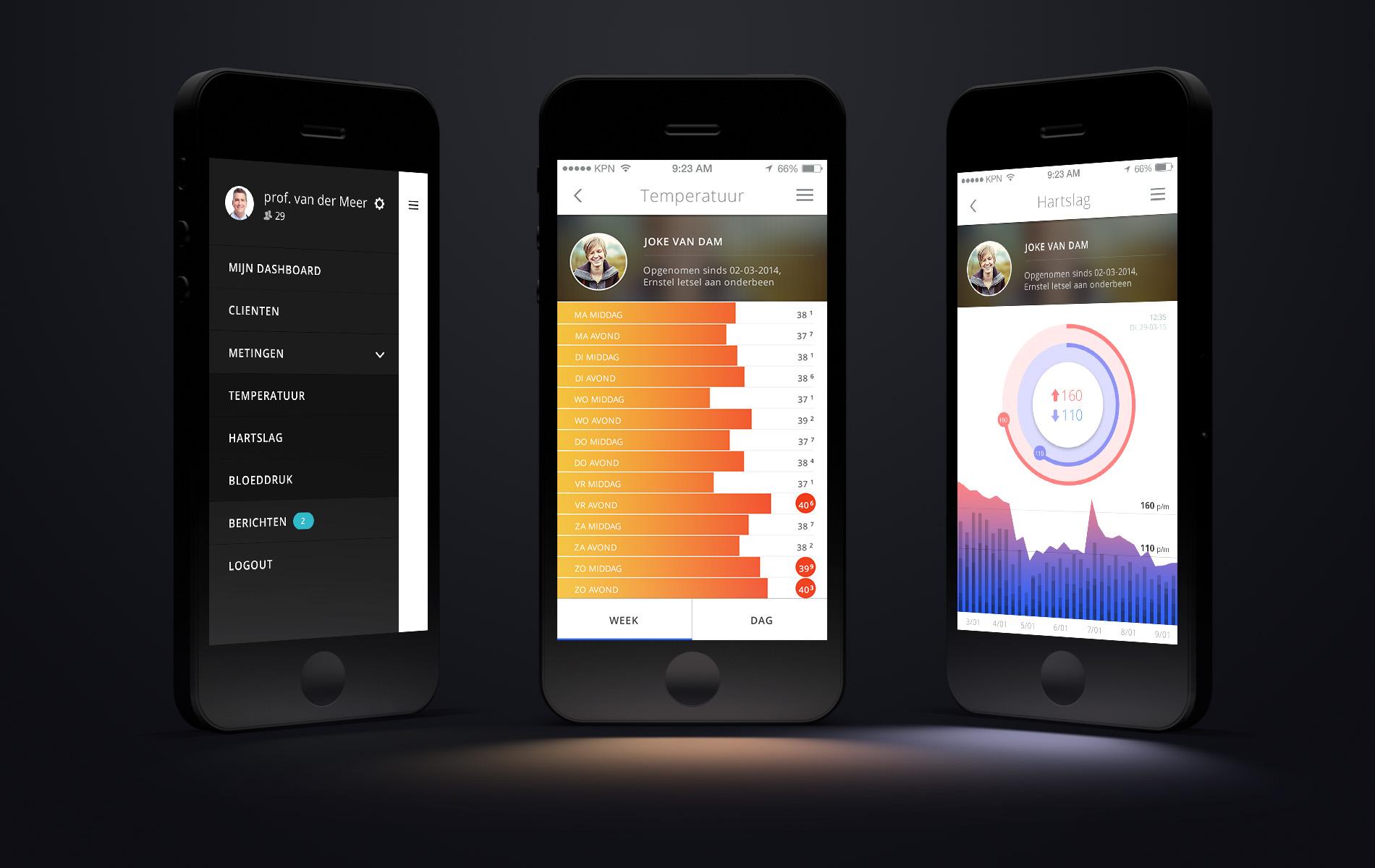 Vitale gegevens app